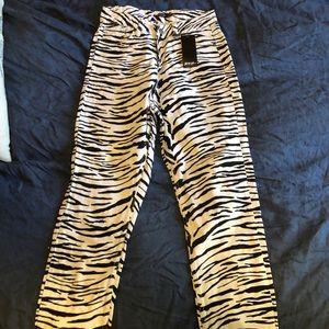 Funky, zebra print jeans